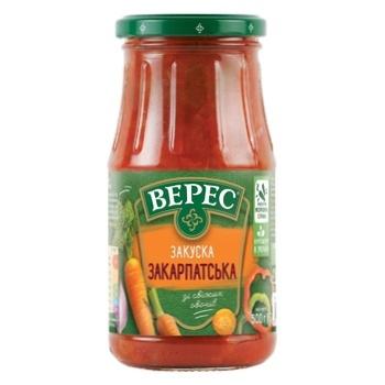 Закуска овочева Верес Закарпатська 500г - купити, ціни на CітіМаркет - фото 2