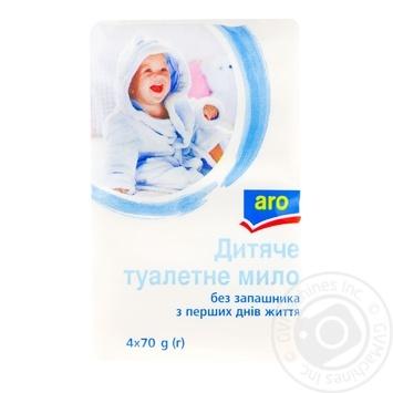 Мыло Aro Детское без запаха 4*70г - купить, цены на Метро - фото 1
