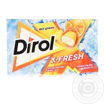 Жувальна гумка Dirol X-fresh мандаринова свіжість 18г - купити, ціни на МегаМаркет - фото 1