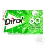 Жевательная резинка Dirol 60 minutes нежная мята 18г - купить, цены на МегаМаркет - фото 1