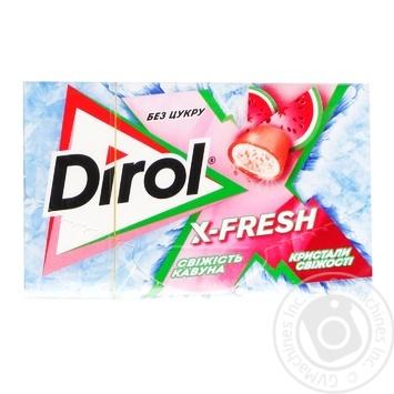Жувальна гумка Dirol X-fresh свіжість кавуна 18г - купити, ціни на МегаМаркет - фото 1