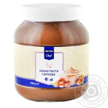 Какао паста METRO Chef Ореховая 750г - купить, цены на Метро - фото 1