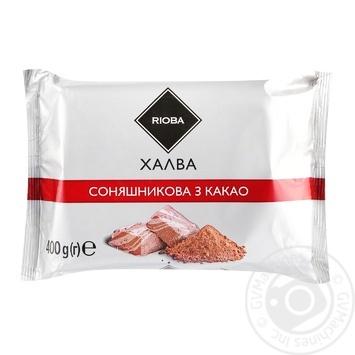 Халва Rioba соняшникова з какао 400г - купити, ціни на Метро - фото 1