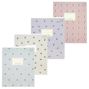 Тетрадь школьная А5 Interdruk I Love Bugs клеточка 48 листов в ассортименте