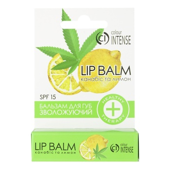 Colour Intense Lip Balm Cannabis and Lemon 5g - buy, prices for MegaMarket - image 1