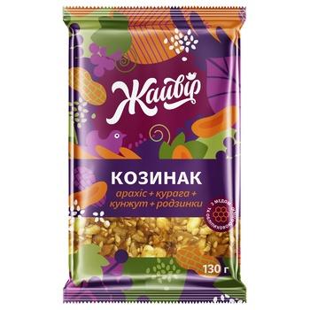 Козинак Жайвір Фруктово-горіховий 130г - купити, ціни на Метро - фото 1