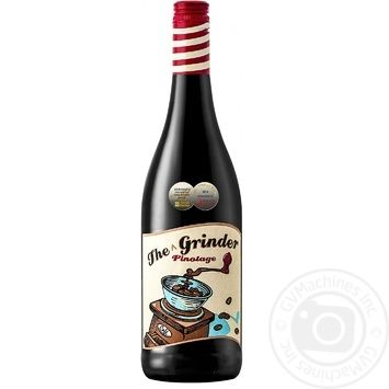 The Grinder Pinotage red dry wine 14% 0,75l - buy, prices for CityMarket - photo 1