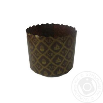 Форма Екопак для кулича мозаика бумажная 70*85