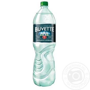 Вода Buvette №7 минеральная сильногазированная 1,5л - купить, цены на Метро - фото 1