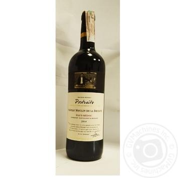 Вино Les Portraits Chateau Moulin De La Bridane Cabernet Sauvignon-Merlot Haut Medoc красное сухое 12% 0,75л