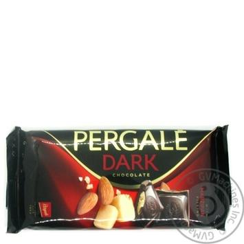 Шоколад черный Pergale с марципановой начинкой 100г - купить, цены на Novus - фото 1