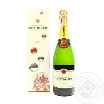 Taittinger Brut Reserve white dry champagne 12.5% 0,75l - buy, prices for CityMarket - photo 1