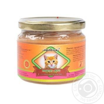 Паштет-мусс для кошек Леопольд с куриной печенью 300г