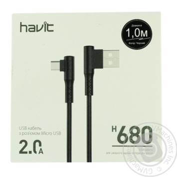 Кабель Havit micro USB HV-H680 - купить, цены на Ашан - фото 1