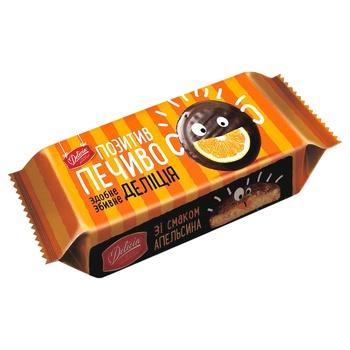 Печенье Деліція со вкусом апельсина сдобное 135г - купить, цены на Ашан - фото 2