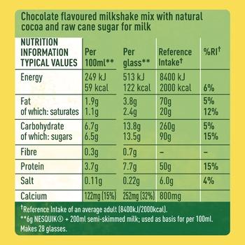 NESTLÉ® NESQUIK® ALL NATURAL chocolate flavour milk powder 168g - buy, prices for Auchan - photo 3