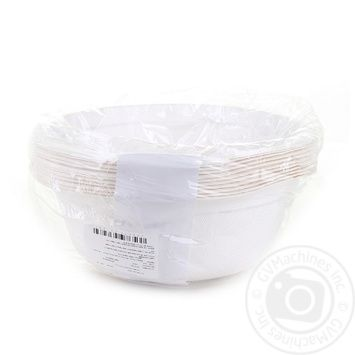 Actuel Disposable Bowl 500ml 10pcs - buy, prices for Auchan - image 3