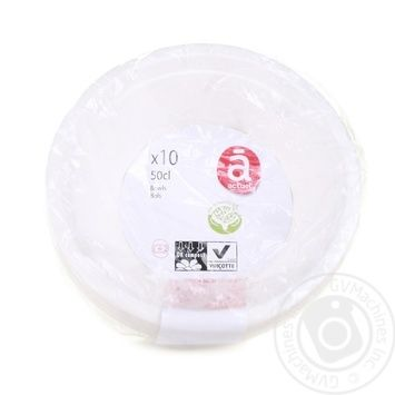 Actuel Disposable Bowl 500ml 10pcs - buy, prices for Auchan - image 1