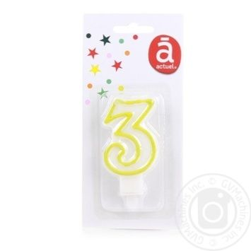 Actuel Cake Candle 3 - buy, prices for Auchan - photo 2