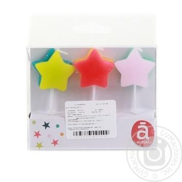 Свечи Actuel Звезда для торта 6шт