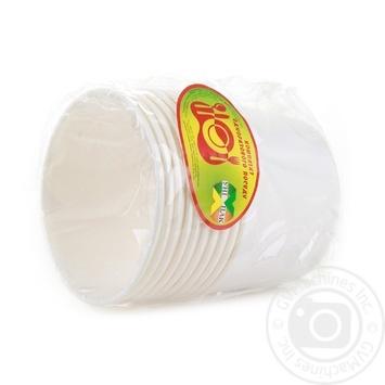 Миска Уніпак супова паперова біла 500мл 10шт - купити, ціни на Ашан - фото 2