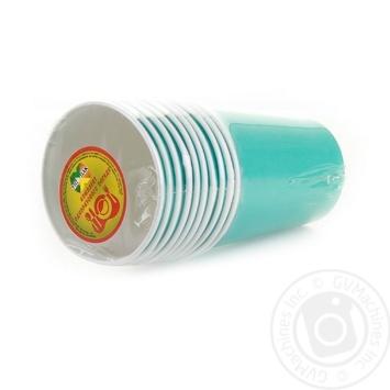 Склянка Уніпак паперова одноразова блакитна 250мл 10шт - купити, ціни на Ашан - фото 3
