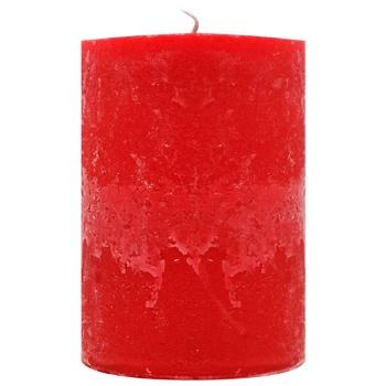 Pragnis Candle Rustic cylinder red