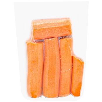Морковь очищеная мытая 500г - купить, цены на Метро - фото 1