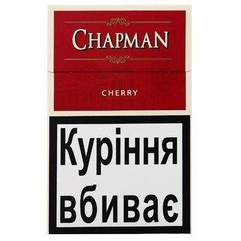 Chapman Cherry Cigarettes 20pcs - buy, prices for Auchan - photo 1