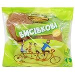 Kyyivkhlib Bran Buns 4pcs*60g 240g in package