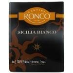 Wine Ronco white dry 12% 3000ml Italy