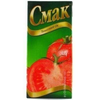 Сок Смак томатный восстановленный тетрапакет 1000мл Украина