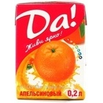 Beverage Da! orange juice-containing 200ml tetra pak Ukraine