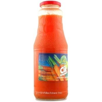 Сок Дары Ланив Здоровье морковно-яблочный стерилизованный стеклянная бутылка 1000мл Украина - купить, цены на Novus - фото 5