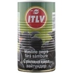 olive Itlv black pitted 370ml can Spain