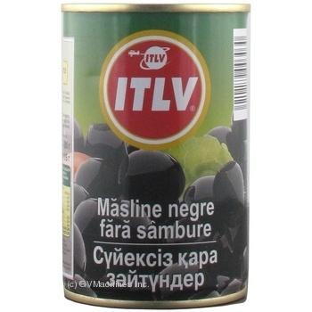 Оливки ITLV черные без косточки 314мл