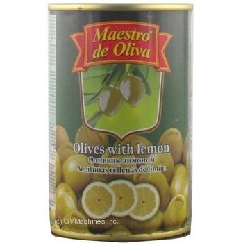 Оливки зелені Maestro de Oliva з лимоном 300мл - купити, ціни на МегаМаркет - фото 3