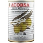 olive Acorsa green pitted 425g can Spain
