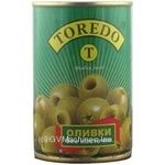 olive Toredo green pitted 314ml can Spain