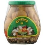 Mushrooms cup mushrooms Toredo pickled 314ml glass jar Thailand