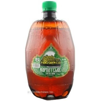 Пиво світле Берегівське Карпатське 3,4% 1л ПЕТ
