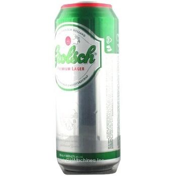 Пиво Пивоварня гролш светлое 4.7% 500мл Россия
