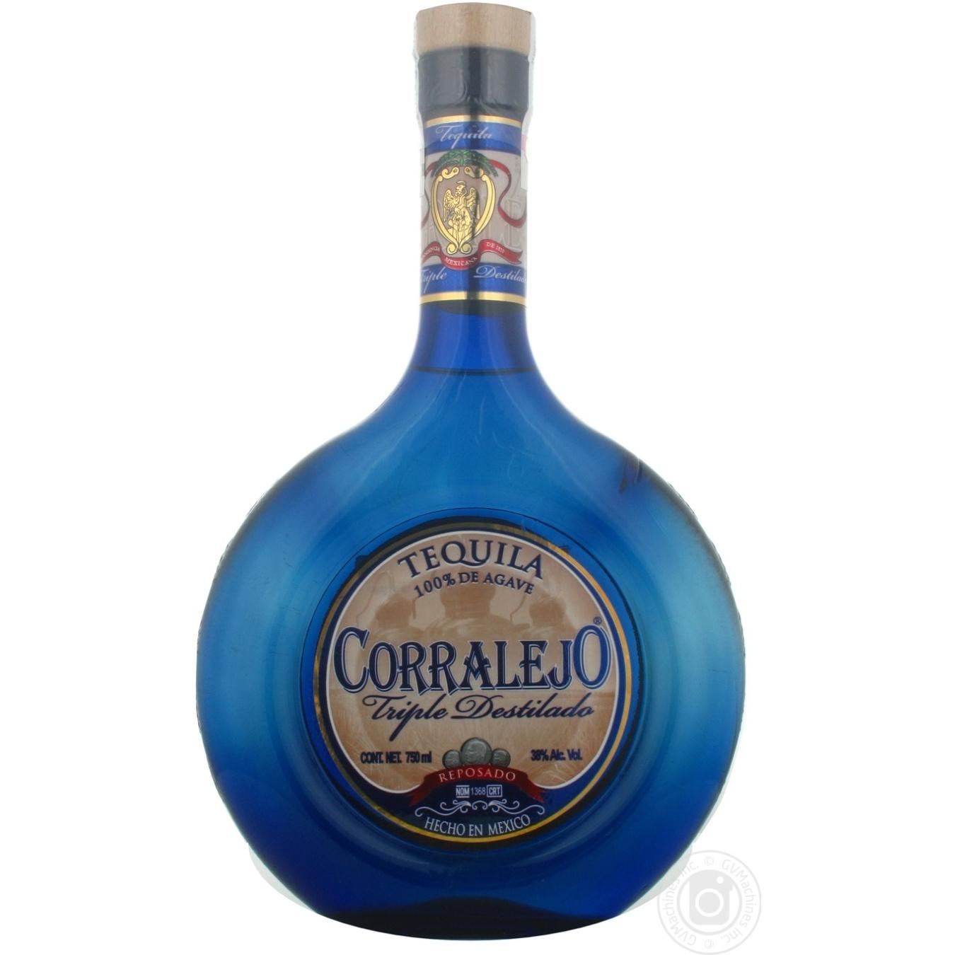 Tequila Corralejo 38 750ml Glass Bottle Mexico Drinks