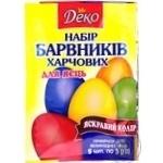 Набор сухих красителей для яиц 5 цветов