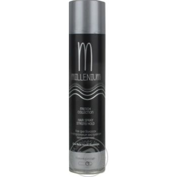 Millenium French Collection Green tea extract varnish for all hair types strong fixation 250ml