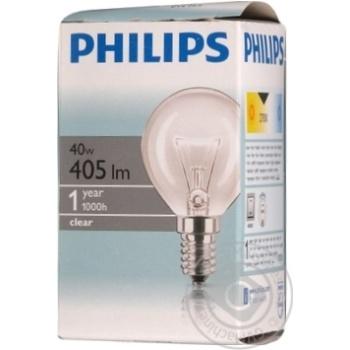 Лампа накаливания Philips Шар Р45 Е14 45Вт