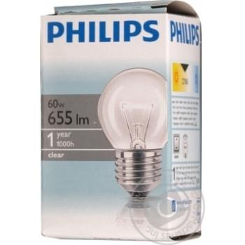 Bulb Philips e27 60w 1000hours 230v - buy, prices for Novus - image 1