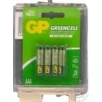 Батарейки GP Greencell 1.5V AAA 4шт - купить, цены на Метро - фото 2