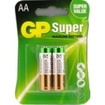 Батарейки GP Super Alkaline 1.5V AA 2шт