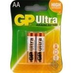 Батарейки GP Ultra Alkaline 1.5V AA 2шт